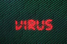 Free Binary Code In Green On TFT With Virus In It Stock Photography - 5079552