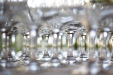 Free Empty Glasses On Table Royalty Free Stock Photo - 5079745
