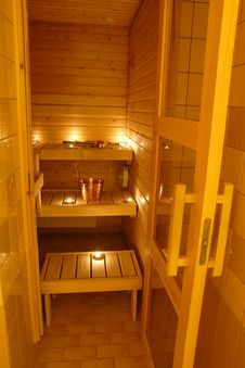 Free Interior Of A Finnish Sauna Stock Photo - 5079770