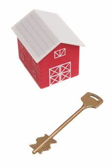 Free The Red House And Key From The House Stock Photo - 5079950