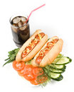 Free Hot Dogs With Vegetables Stock Photos - 5085143