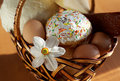 Free Easter Cake In A Basket Stock Photos - 5088623