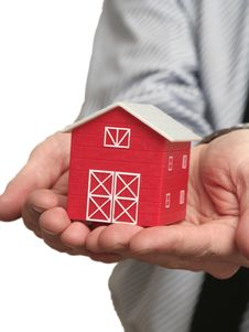Free The Red House In A Hand Stock Image - 5080121