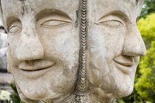 Free Buddha Figurines Made Of Stone, Thailand, Buddha P Royalty Free Stock Images - 5080709