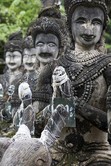Free Buddha Figurines Made Of Stone, Thailand, Buddha P Stock Photo - 5080760