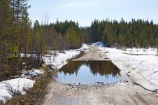 Karelian Road Stock Images