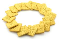 Free Biscuits Round Frame, Isolated Stock Photography - 5081402