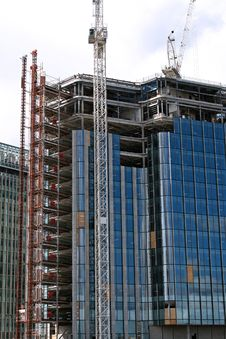 Free Side Of Blue Office Construction Royalty Free Stock Photos - 5081488