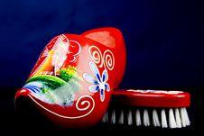Red Shoe Brush Royalty Free Stock Image