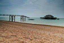 Brighton Old West Pier Royalty Free Stock Photos