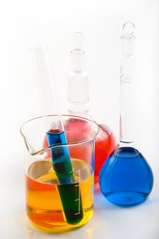 Free Various Colorful Flasks Royalty Free Stock Image - 5084846