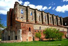 Free San Galgano Abbey Royalty Free Stock Image - 5084896