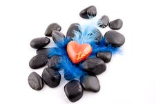 Free Heart And Stones Royalty Free Stock Images - 5084899