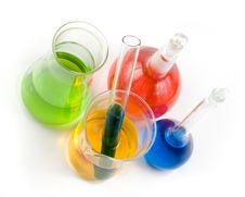 Free Various Colorful Flasks Stock Images - 5084904