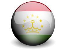 Free Round Flag Of Tajikistan Stock Photography - 5085682