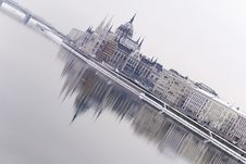 Free Hungarian Parliament With Reflection Stock Photo - 5085840