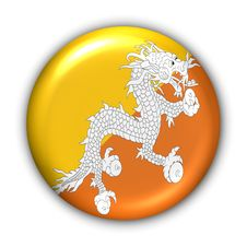 Free Bhutan Flag Royalty Free Stock Photo - 5085845
