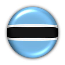 Botswana Flag Royalty Free Stock Images