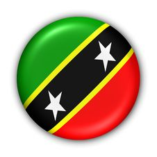 Saint Kitts And Nevis Flag Stock Image