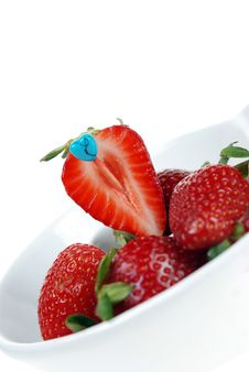 Free Fresh Cut Strawberry Stock Images - 5086504