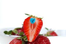 Free Fresh Cut Strawberry Stock Photo - 5086520