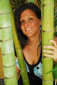 Free Beautiful Woman Between Bamboo Stock Photos - 5086993