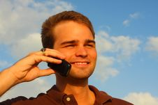 Free Man On The Phone Stock Photography - 5087062