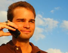 Free Man On Phone Royalty Free Stock Photo - 5087065