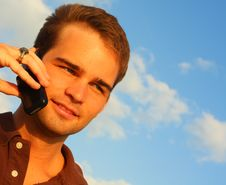 Free Man On The Phone Royalty Free Stock Photography - 5087067