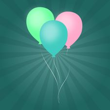 Free Pastel Balloons Vortex Background Royalty Free Stock Photos - 5087278