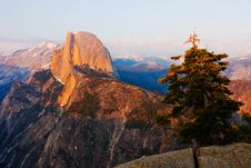 Half Dome At Sunset In Yosemite Stock Image