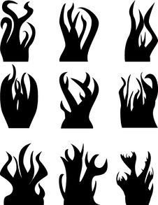 Free Flame Icons Stock Photography - 5088232