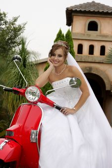 Free Scooter Red Stock Image - 5088771