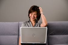 Free Asian Lady In Business Attire, Frustrated Stock Image - 5089011