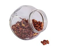 Roasted Peanuts In Glass Stock Images