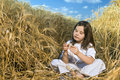 Free Littel Girl In A Wheat Field Stock Images - 5096214