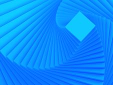 Free Spiraling Blue Square Royalty Free Stock Images - 5090309