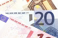 Free Money - 20 Euro Notes Detail Stock Photo - 5090480