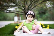 Free Girl In Flower Garden8 Stock Images - 5090594
