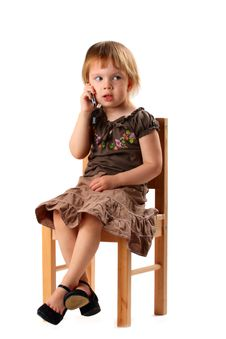 Free Pretty Girl In Big Shoes Talking By Phone. Royalty Free Stock Photo - 5090655