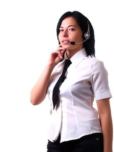 Free Customer Service Representative Lady Stock Images - 5091074