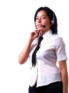 Customer Service Representative Lady Stock Images