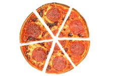 Free Pizza Salami. Royalty Free Stock Images - 5091259