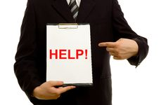 Free  HELP!  Text On Clipboard Royalty Free Stock Photo - 5091425