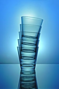 Free Empty Glasses Royalty Free Stock Photo - 5093055