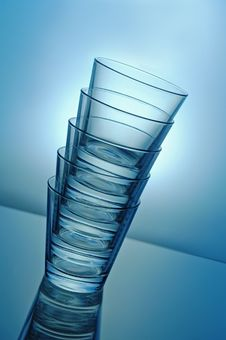 Free Stack Of Glasses Royalty Free Stock Image - 5093066