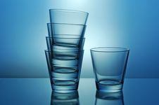 Free One And Stack Of Glasses Royalty Free Stock Photos - 5093178