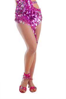 Woman Legs On Heels Royalty Free Stock Photos