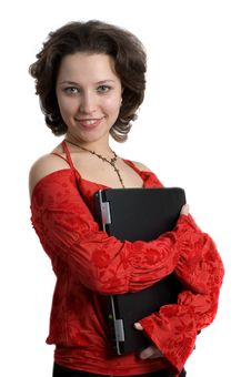 Free Close Up Of A Young Business Woman In Red Royalty Free Stock Images - 5093489