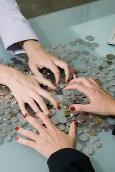 Free Female Hands Grabbing Money Royalty Free Stock Image - 5094556